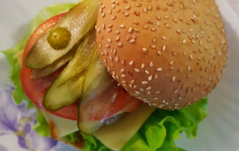 Classic homemade burger
