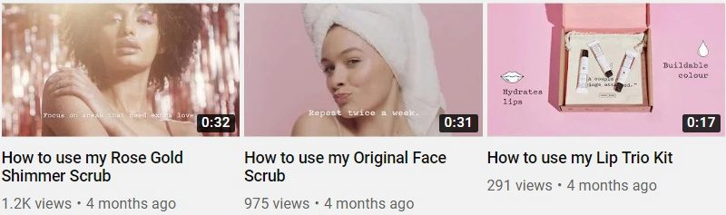 Texts on YouTube thumbnail images
