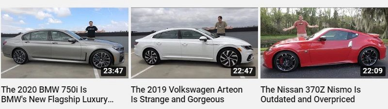 Example of good YouTube thumbnails